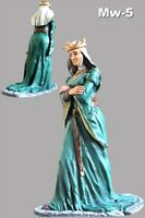 Queen Eleanor Painted Medieval 1/32 Female Civilian Army Metal Toy Soldiers 54mm