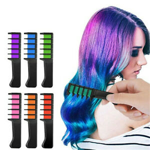 Temporary Hair Chalk Color Comb Dye Disposable Fans Cosplay Party Hairs Dyeing