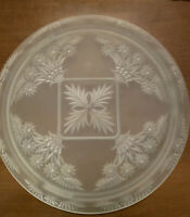 Indiana Satin Finish  Pressed Glass Daisy Diane  Footed Cake Plate #371