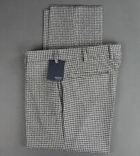 New Incotex Wool Flat Front Dress Pants Slim Size 32 (48 EU) NWT