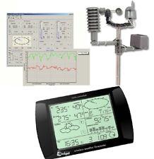 Estación Meteorológica Pro inalámbrico negro con interfaz USB PC y software