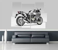 Honda Vfr1200F Motorbike Removable Self Adhesive Wall Picture Poster 1425 Grey
