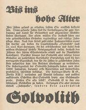 Y6971 SOLVOLITH Zahnpasta -  Pubblicità d'epoca - 1925 Old advertising