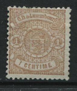 Luxembourg 1875 1 centime  unused no gum