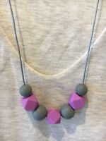Silicone Sensory (was teething) Necklace for Mum Jewellery Beads Aus Purple