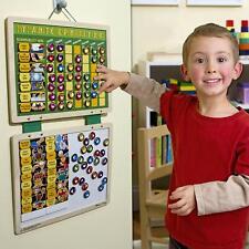 Kids Magnet Chores Chart Calendar Dry Erase Board Behavior Reward Game Set Gift
