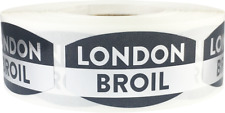 London Broil Meat Grocery Stickers, 0.75 x 1.375 Inches, 500 Labels on a Roll
