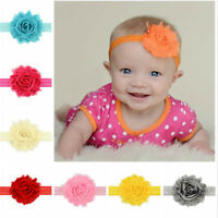 12Pcs Cute Kids Girl Baby Chiffon Toddler Flower Bow Headband Hair Band Headw I2