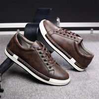 Mens Flat Heel Fashion Casual Sneaker Lace Up Round Toe Low Top Comfort Shoes Sz