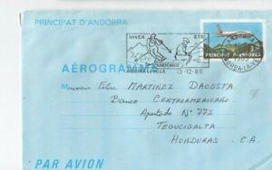 Hc098/ Andorra Ganzsache Aerogramm oo 1985 -> HONDURAS