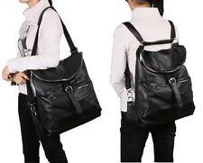 Brown,Coffee Genuine Leather Women's Girl Backpack Shoulder Travel bag Schoolbag