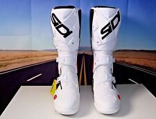 SIDI Crossfire 2 SRS Motorcycle Boots SR MX Dirt Bike White Blk 47 US 12.5 HB