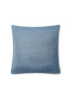 "Ralph Lauren Home Willa Faded Woven 20"" Square Decorative Pillow Blue  $135 NW"