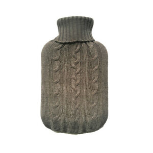 2L Extra Larger Hot Water Bottle Bag With Knitted Cover Winter Warmer Heat #N02