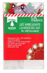 Christmas Truck LED Fairy Lights/Battery Operated ~ 3 Ft 10 Count