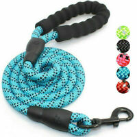 Extra Strong Reflective Rope Dog Lead with Foam Padded Handle Leash 5ft 150cm UK