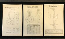3 X Harland & Wolff Belfast 1930's Drawings SPRING HOOKS CALLIPER CREEPER - RF02