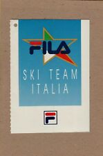 ADESIVO STICKER VINTAGE  FILA F  SKI TEAM ITALIA