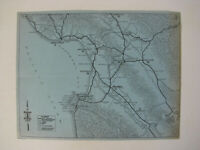 c1919 OAKLAND TRIBUNE AUTOMOBILE MAP Monterey California TOURING BUREAU RARE old