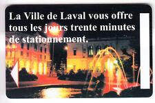 PIAF PARKING CARTE / CARD .. 15€ LAVAL 53 CENTRE VILLE V° 10LN MAGNETIQUE