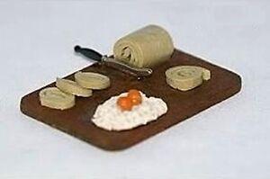 Preparing Food Platter 1:12 Scale Dollhouse Miniatures Kitchen