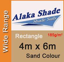 New Shade Sail - Sand Colour Rectangle 4x6m, 4m x 6m, 4 by 6m, 4 x 6m, 4mx6m