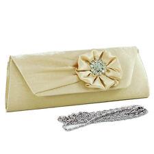 New Womens Handbag Evening Clutch Crossbody Day Bag Purse w/ Flowery Rhinestones