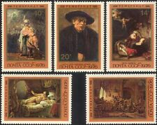 Russia 1976 Rembrandt/Artists/Paintings/Art/People/Naked/Nudes 5v set (n11802a)