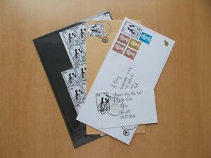 Bude, Cornwall - Circa 2012 private post cinderella stamps & three covers.