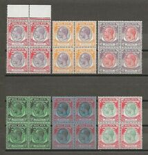MALAYA/STRAITS SETTLEMENTS 1936-37 SG 260/73 MNH Blocks Cat £430