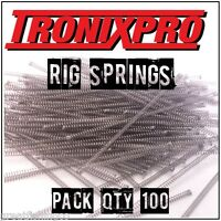 100 x Tronixpro Rig Springs - SRT Springs - Rig Components Sea Tackle