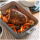 """Pampered Chef 14""""X10""""(35CMX25CM)ENAMELED CAST IRON PAN"""