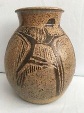 "Charles Counts Studio Art Pottery Vase 8-3/8"""