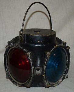 Vintage Pyle Railroad 4 Way Marker Light / Switch Lamp