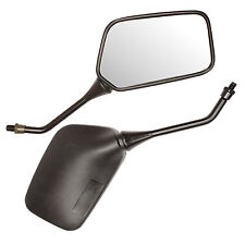 BLACK LARGE 10MM THREAD MOTORBIKE MIRRORS UNIVERSAL MOTORCYCLE/BIKE/SCOOTER PAIR