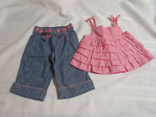 Gymboree 3-6 Month Bubbly Baby Pink Ruffled Shirt Pants Outfit NWT