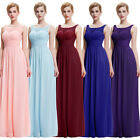 Lady Chiffon Evening Cocktail Formal Bridesmaid Dress Wedding Party Gown Sz 6-18