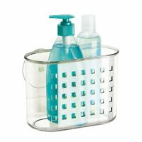 Suction Bathroom Shower Shampoo Conditioner Organizer Basket Soap Holder Clear