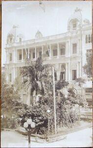 Santiago de Cuba 1910 AZO Realphoto Postcard: 'Club San Carlos'