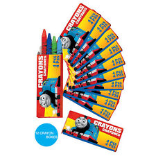 THOMAS THE TANK ENGINE PARTY SUPPLIES 12 MINI CRAYON FAVOURS GENUINE LICENSED