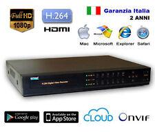 NVR DVR  4 canali IP Videosorveglianza 1080P H.264 Realtime Internet HDMI HD 2TB