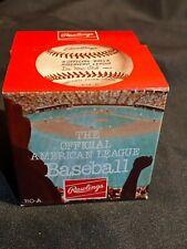 Vintage - Rawlings Official AL Baseball ~ MacPhail ~ Sealed Original Box - MINT