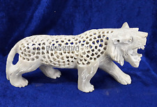 """7"""" Marble Tiger Undercut With Belly Baby Handicrafts Interior Decorative H4232"""