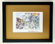ROY LICHTENSTEIN BEAUTIFUL 1986 SIGNED PRINT FRAMED COVERING AN AREA OF 9X11IN