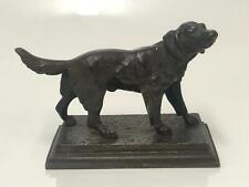 Superb Bronze Sculpture of a Retriever Dog on Base - Great Detail