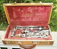 Vintage 1940s Boosey Hawkes Wood Clarinet The EDGWARE Musical Instrument W/ Case