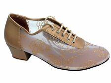 Women's West Coast Swing Salsa Ballroom Dance Shoes low Heel 1.5 Very Fine 2002
