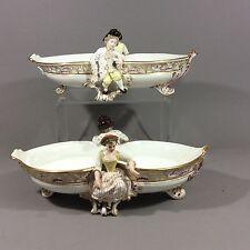 Antique Minton Pr Of Figural Serving Bowl Center Piece For T. Goode 1893's