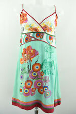DESIGUAL Womens Summer Long Dress Sleeveless Viscose Multicoloured Size 42