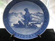 "Royal Copenhagen Christmas Plate 1978 ""Greenland Scenery"""